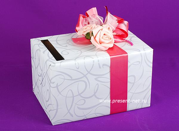 Коробка для денег для свадьбы пошагово